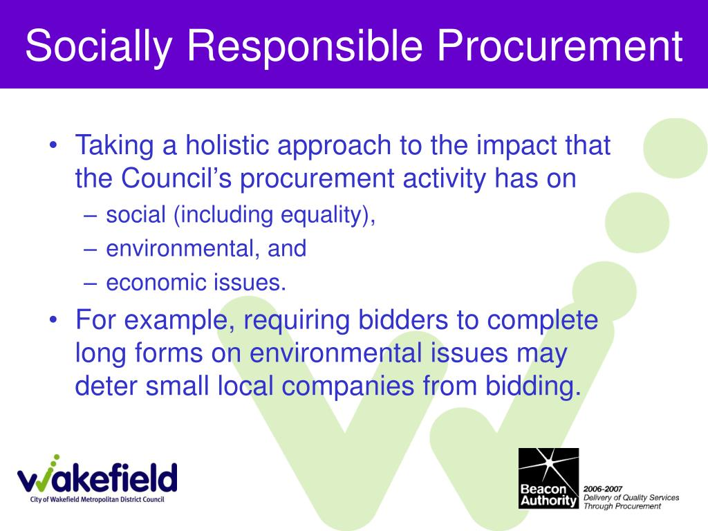 Socially Responsible Procurement