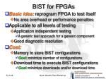 bist for fpgas