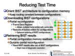 reducing test time