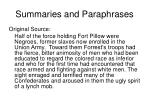 summaries and paraphrases