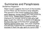summaries and paraphrases17