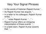 vary your signal phrases