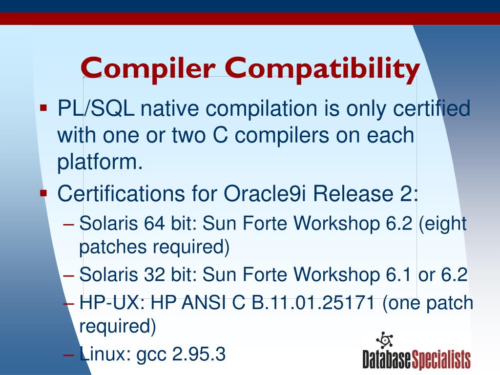 Compiler Compatibility
