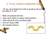2 ti ag thymus independent ag