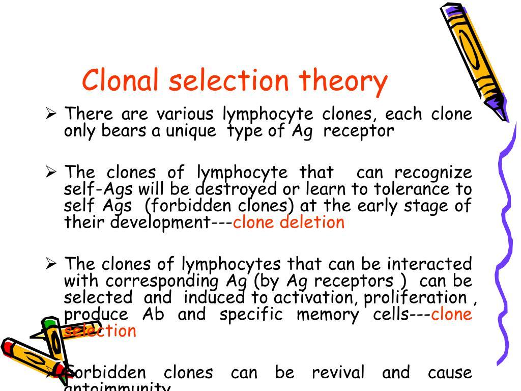 Clonal selection theory