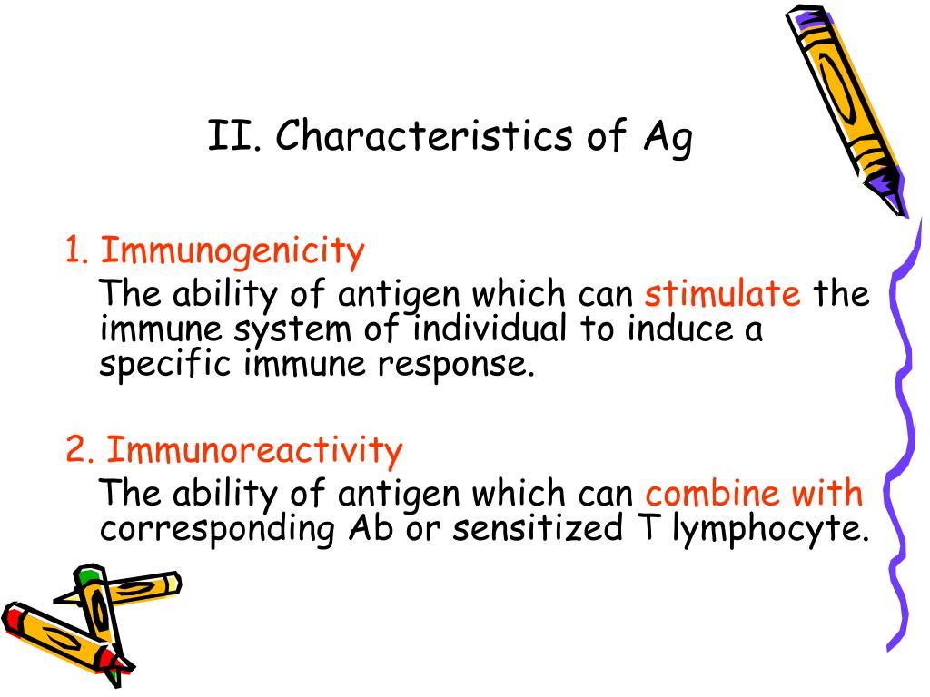 II. Characteristics of Ag