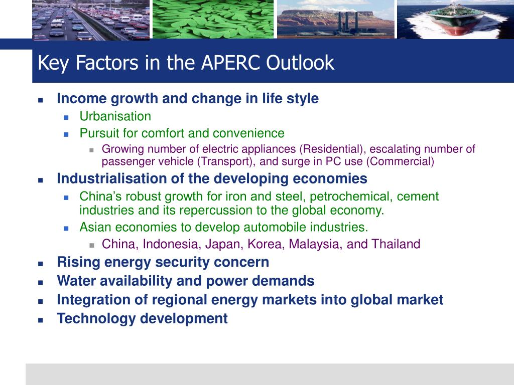 Key Factors in the APERC Outlook