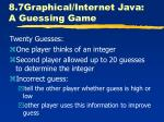 8 7graphical internet java a guessing game