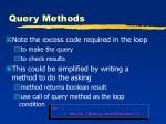 query methods