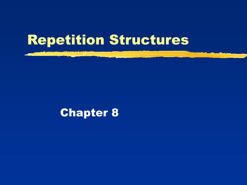 repetition structures l.