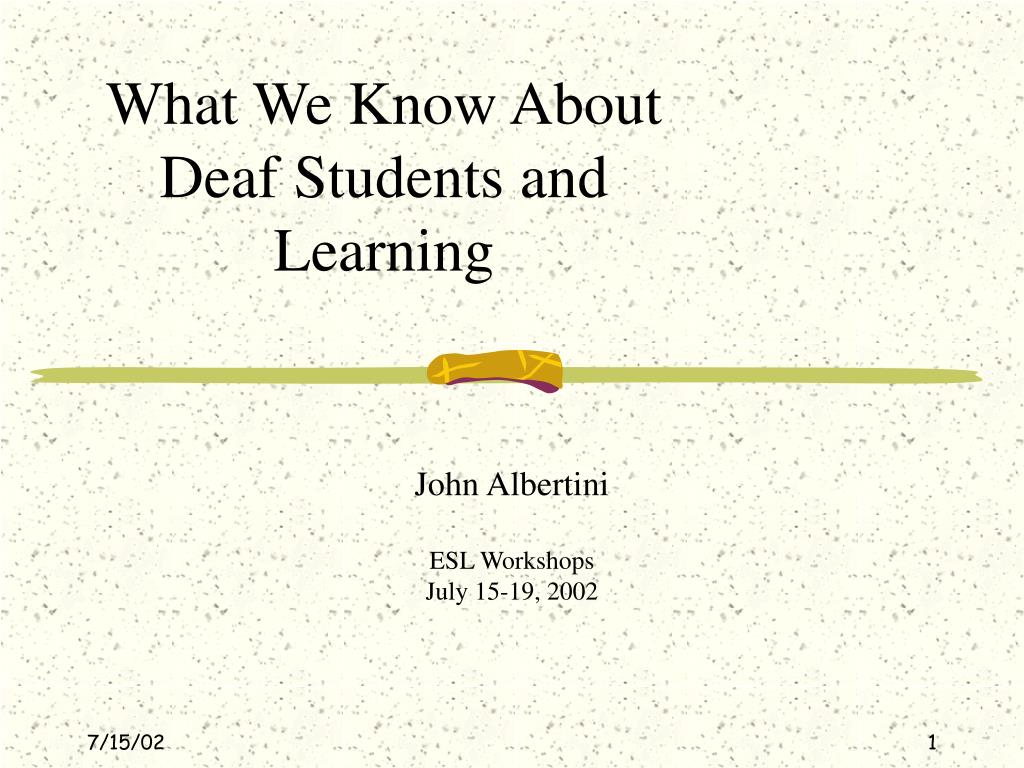 what we know about deaf students and learning l.