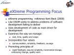 extreme programming focus
