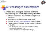xp challenges assumptions