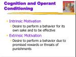 cognition and operant conditioning2