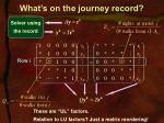 what s on the journey record