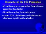 headaches in the u s population