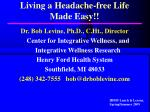 living a headache free life made easy