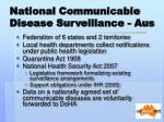 national communicable disease surveillance aus