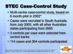 stec case control study