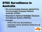 stec surveillance in australia