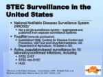 stec surveillance in the united states