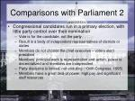 comparisons with parliament 2