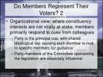 do members represent their voters 2