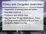 ethics and congress overview