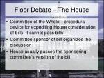 floor debate the house