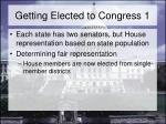 getting elected to congress 1