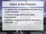 intent of the framers