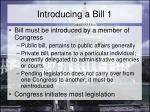 introducing a bill 1
