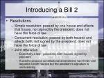 introducing a bill 2