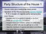 party structure of the house 1