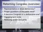 reforming congress overview
