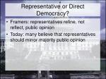 representative or direct democracy