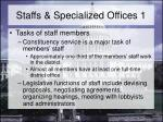 staffs specialized offices 1
