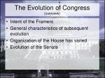 the evolution of congress overview