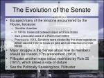 the evolution of the senate