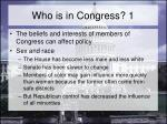 who is in congress 1