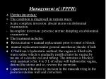 management of ppph27