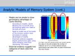 analytic models of memory system cont