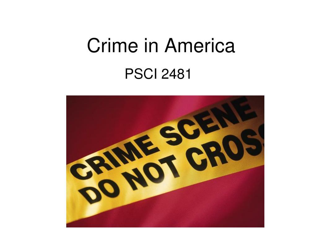 crime in america l.