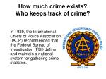 how much crime exists who keeps track of crime