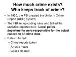how much crime exists who keeps track of crime4