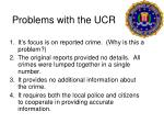 problems with the ucr