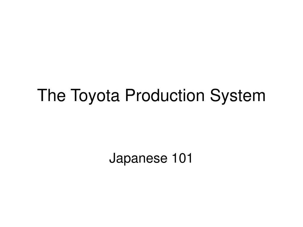 the toyota production system l.