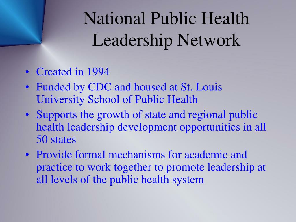 National Public Health Leadership Network