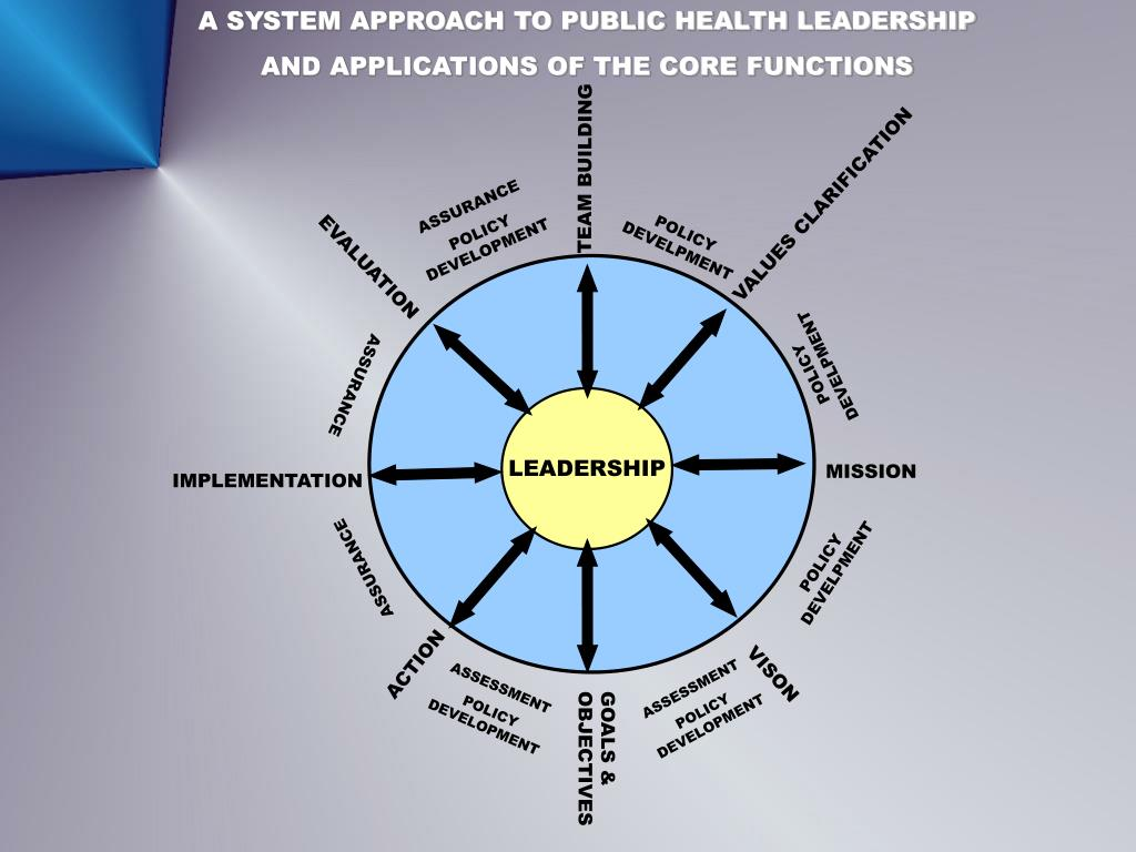 A SYSTEM APPROACH TO PUBLIC HEALTH LEADERSHIP