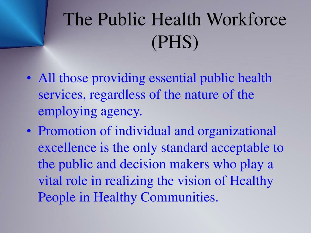 The Public Health Workforce (PHS)